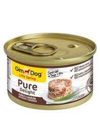 GimDog Pure Delight консервы для собак из цыпленка с говядиной 85 г